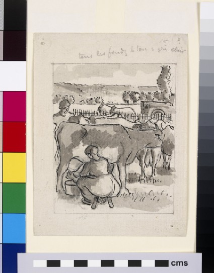 Compositional study of a milking scene