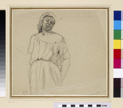 Recto: Study of a black woman