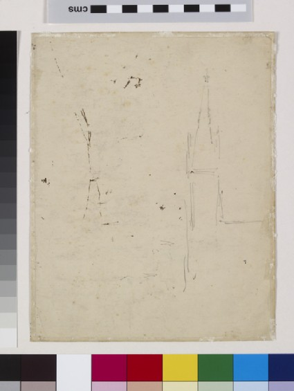Recto: Study of Upper Norwood, London, with All Saints Church Verso: Slight Study of All Saints Church, Upper Norwood, London