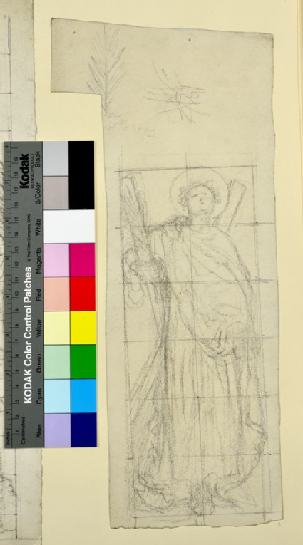 Study of 'St Andrew' for a Stained Glass Window