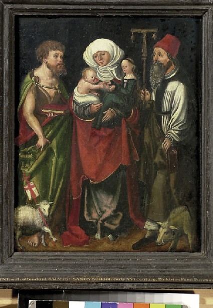 St Anne between St John the Baptist and St Antony Abbot