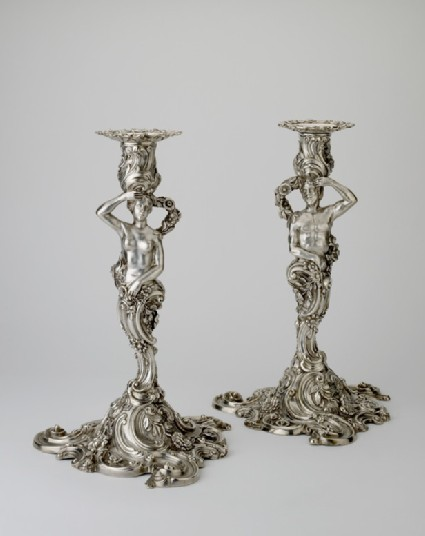 Candlestick, with nozzle, one from a set of four