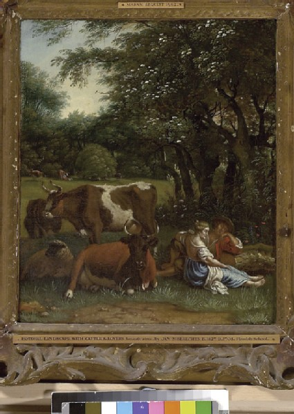 Landscape with Cattle and a Couple under a Tree