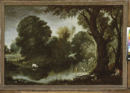 Wooded Landscape with Duck-shooting