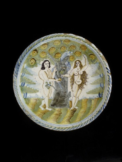 Dish with Adam and Eve