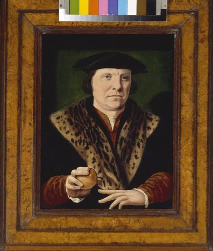 Portrait of a Man holding a Peach