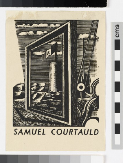 Bookplate for Samuel Courtauld