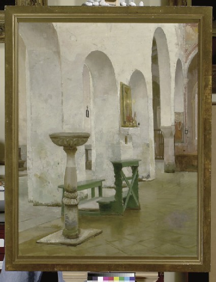 Interior of the Church of Sta Maria in Porto Fuori, Ravenna
