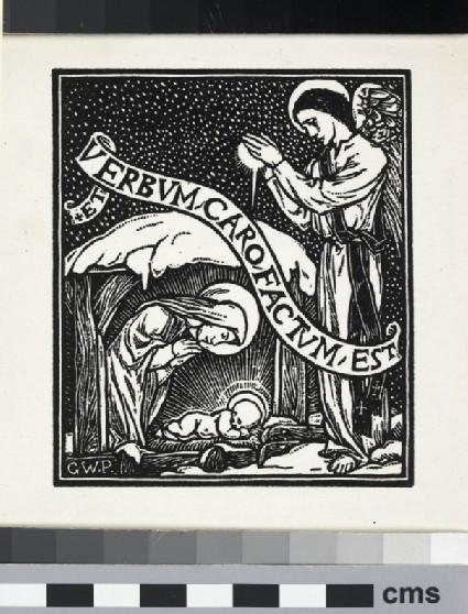 Christmas card with inscription of Et Verbum Caro Factum Est