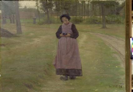 Girl from Laran with Cornflowers