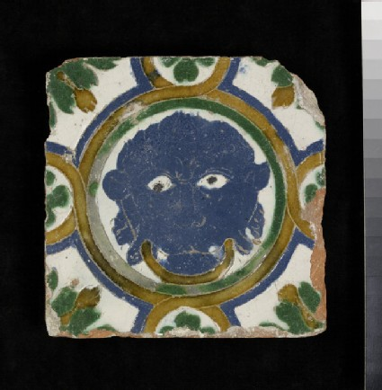 Arista tile with a mask