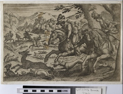 Deer hunt, copy in reverse