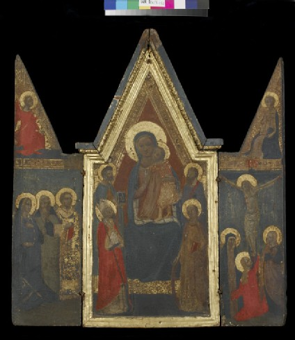 Triptych: Centre Panel: The Virgin and Child with Sts Peter, Paul, Zenobius and Catherine of Alexandria