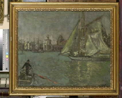Sailing boats on the Grand Canal, Venice