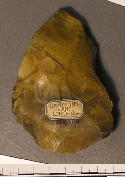 Grey Abbevillian handaxe