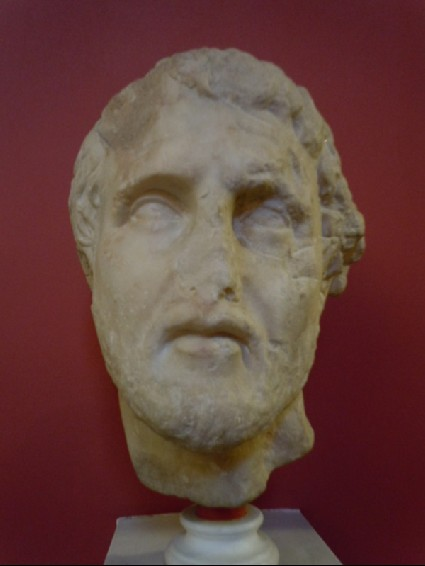 Head of man from grave relief