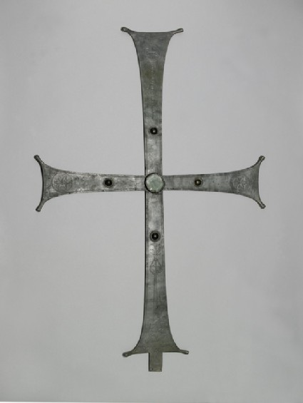 Processional cross with Greek inscription