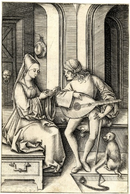 The lute player and the singer