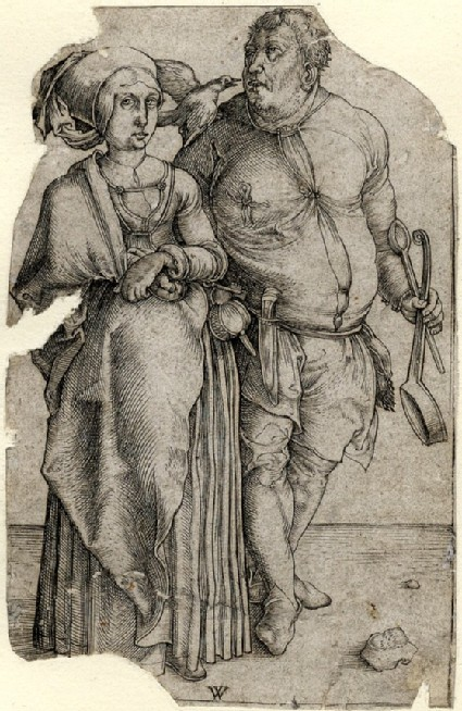 The cook and his wife, copy in reverse