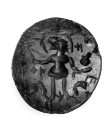 Magical intaglio, lion-headed anguipede
