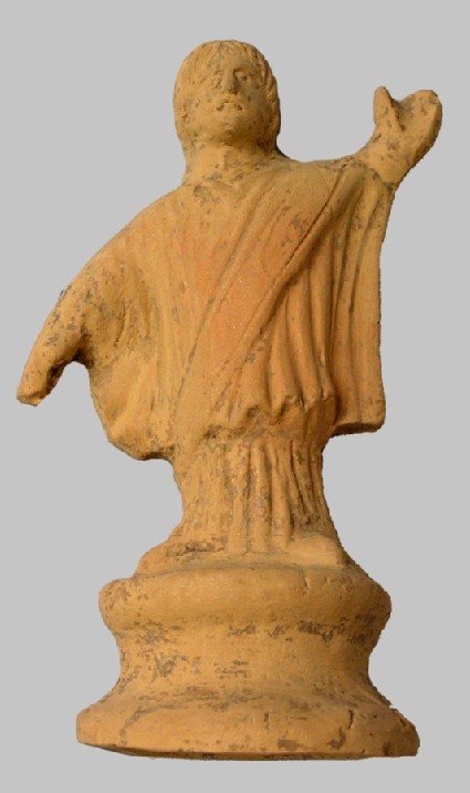 Terracotta figure of Christian priest or declaiming orator