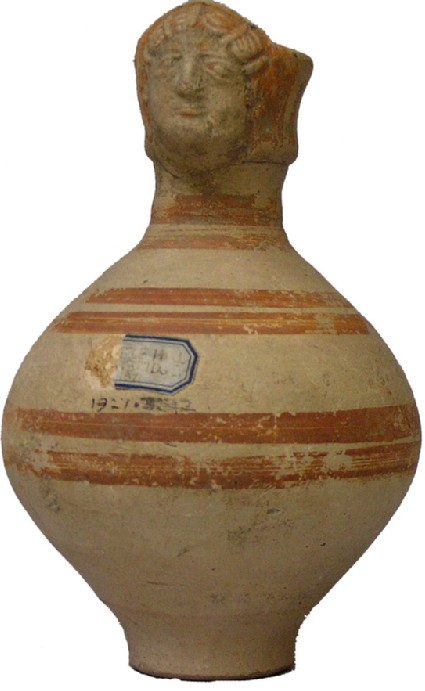 Flagon from Cambridgeshire with woman's head
