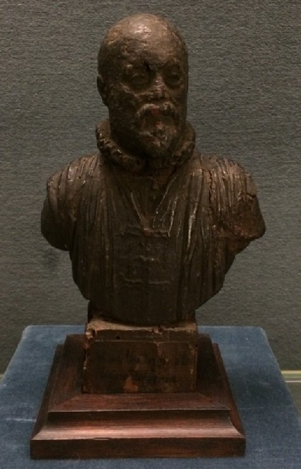 Bust of male figure, possibly self-portrait wearing the Cross of the Knights of Christ