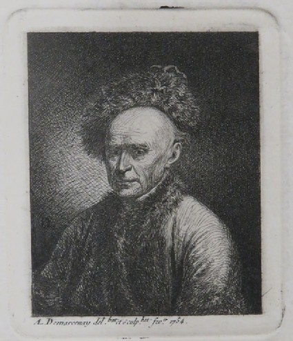 Portrait of a man wearing a fur hat and a fur-edged mantle