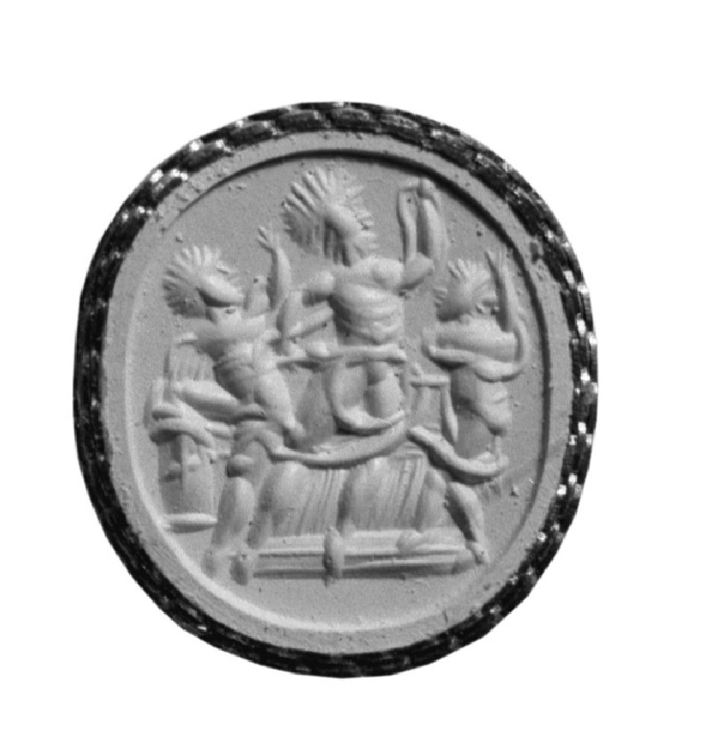 Intaglio gem depicting Zeus Serapis