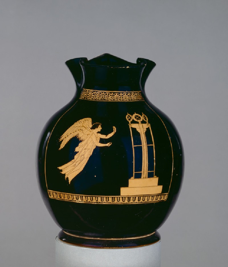 Attic red-figure pottery jug depicting Nike (AN1896-1908.G.280)