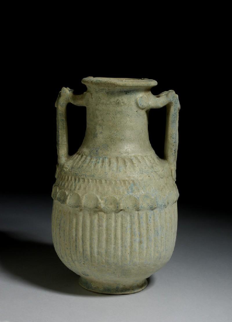 Blue-glazed ceramic amphora (AN1933.1099)