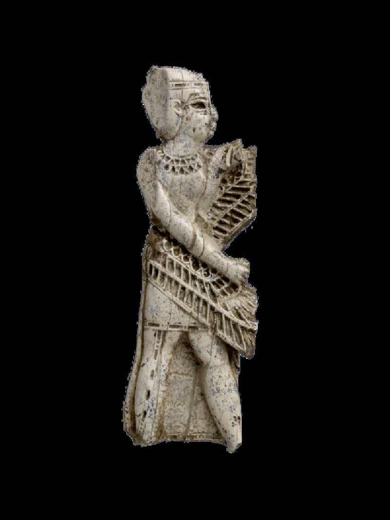 Fragment of openwork panel carved with winged figure (AN1960.1218)
