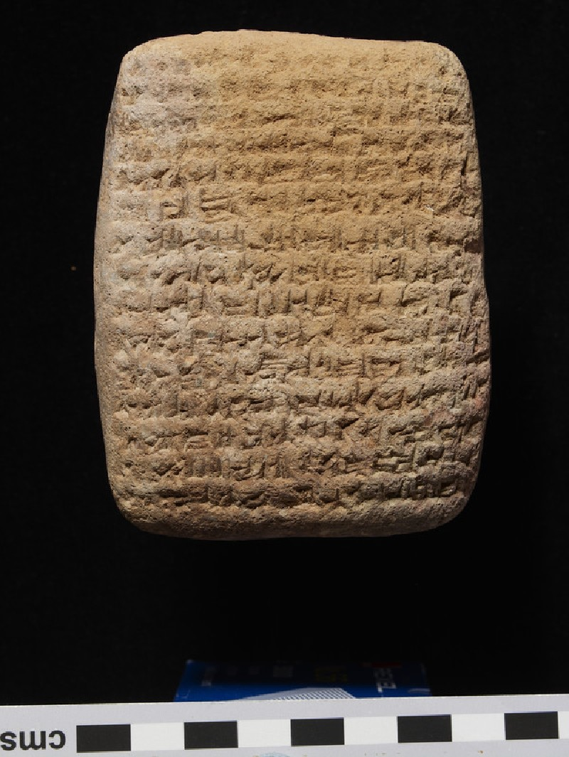 Clay tablet with cuneiform script on both sides, land-sale contract (AN2008.31)