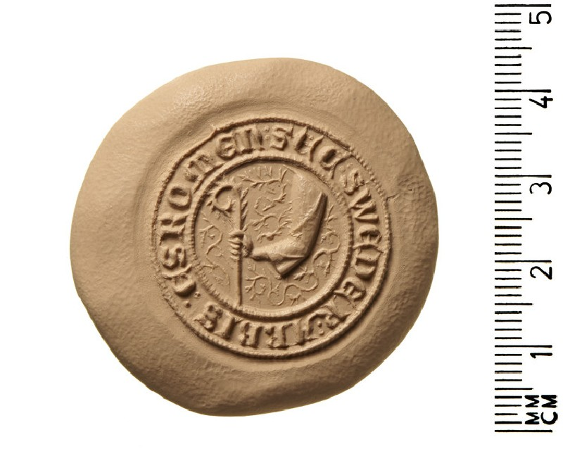 Secret seal of Sweder, Abbot of Esrom, in the diocese of Roskilde, Denmark (AN2009.864)