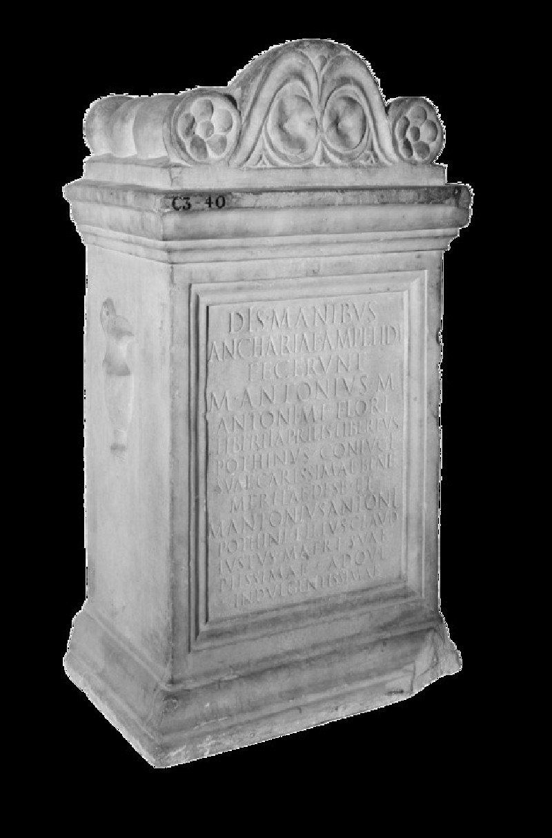 Epitaph with Latin inscription to Ancharia (ANChandler.3.40)