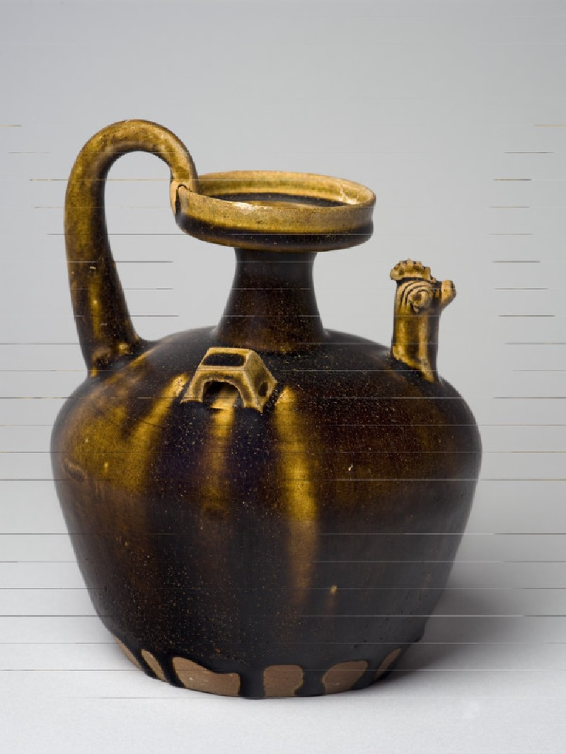 Black ware ewer with chicken head spout (EA1956.944)