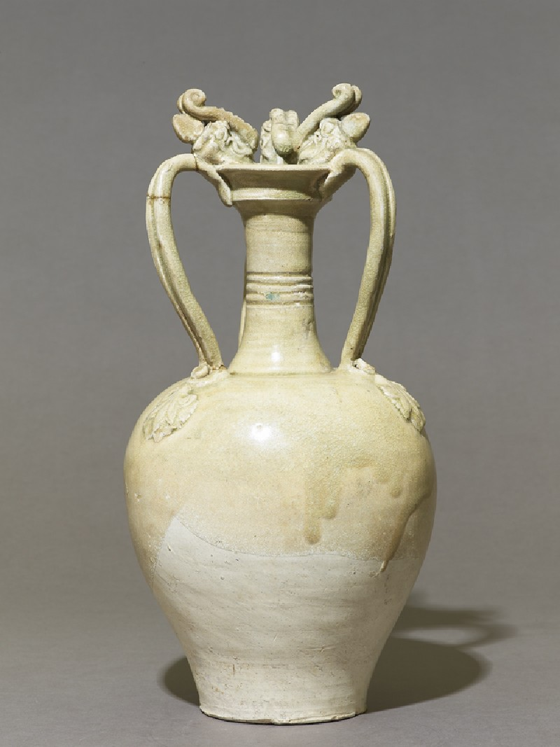 White ware amphora with handles in the form of dragons (EA1956.1072, side             )