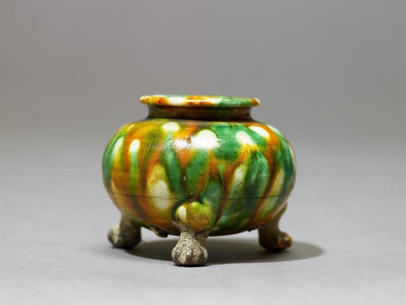 Tripod jar with three-colour glaze (EA1956.1082, side             )