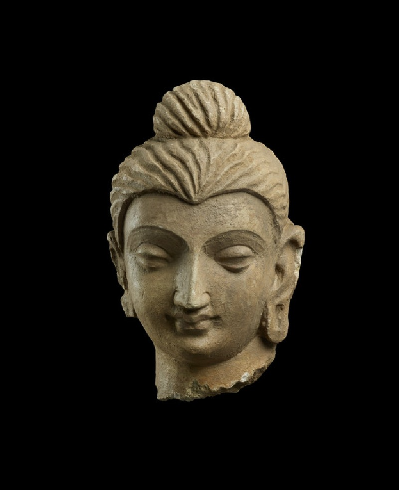 Small head of a Buddha