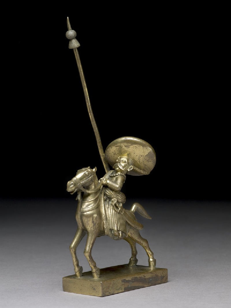 Toy soldier with horse and lance (EA1969.44.c)