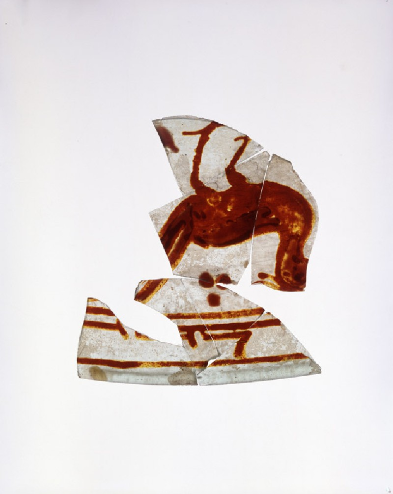 Vessel fragment with bird and calligraphy (EA1974.44, oblique           )