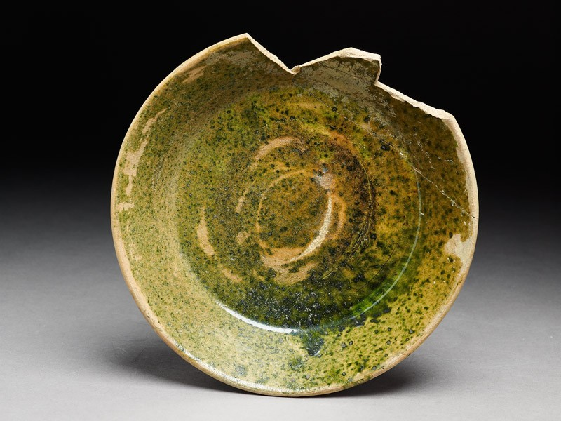Fragment of a bowl with green glaze (EA1974.47, top           )