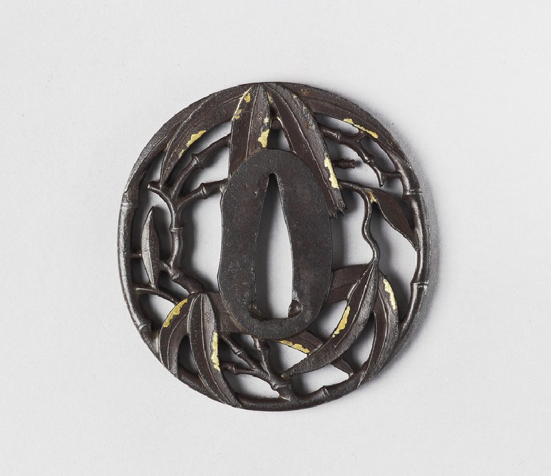 Round tsuba with design of bamboo (EA1978.256, front            )