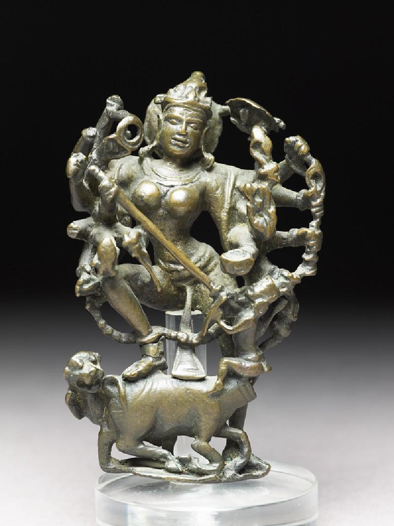 Figure of Durga slaying the Buffalo-demon (EA1980.62, front           )