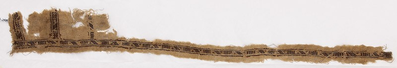 Textile fragment with stripes and diamond-shapes (EA1984.336, front            )