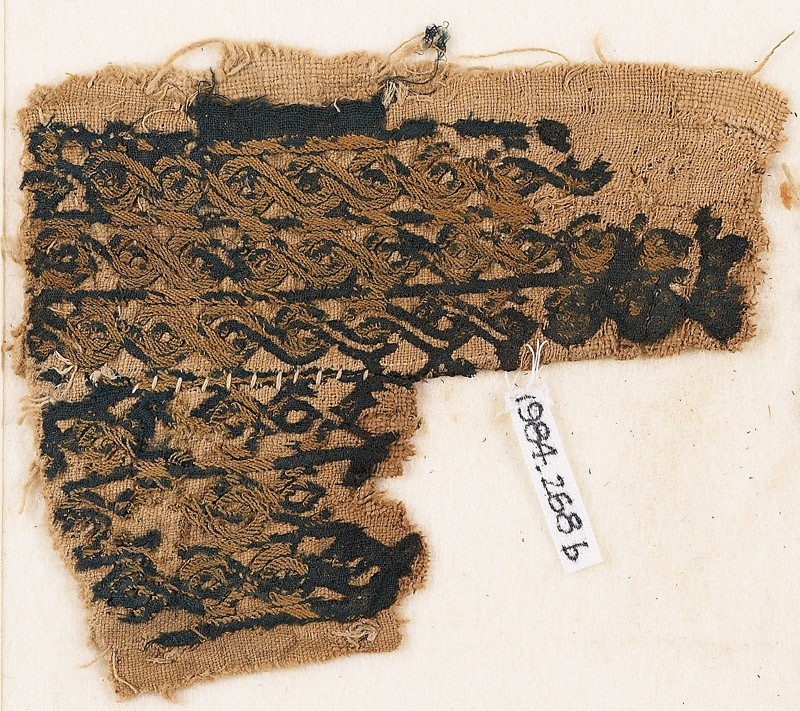 Textile fragment with bands of interlaced braid (EA1984.268.b, front              )