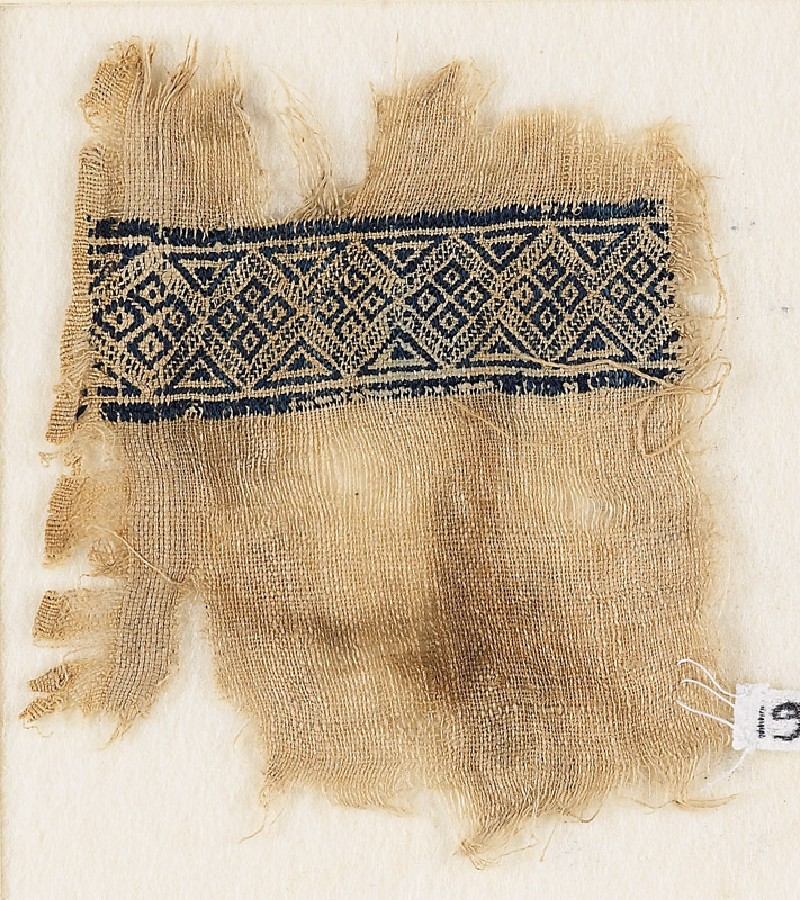 Textile fragment with band of diamond-shapes (EA1984.313, front            )