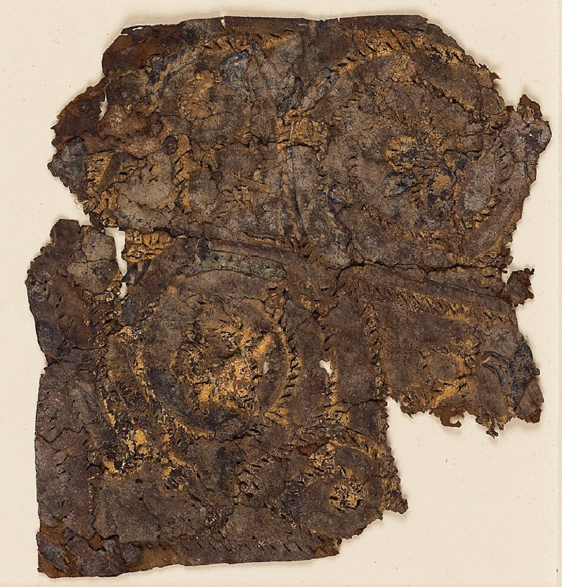 Textile fragment with trefoil scroll (EA1984.359, front            )