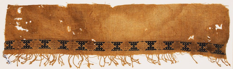 Textile fragment with band of hexagons and paired triangles (EA1984.384, front            )