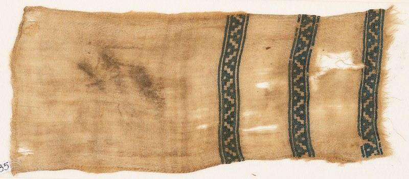 Textile fragment with bands of dots and diagonal lines (EA1984.385, front            )